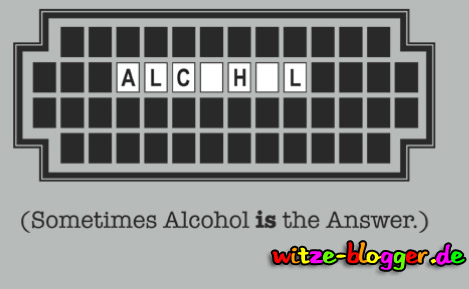 Alcohol is the Answer