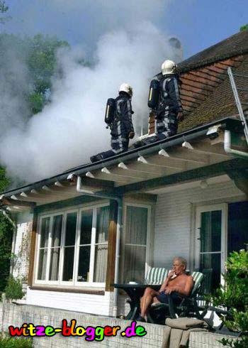 Feuerwehr Einsatz Mann Ruhe