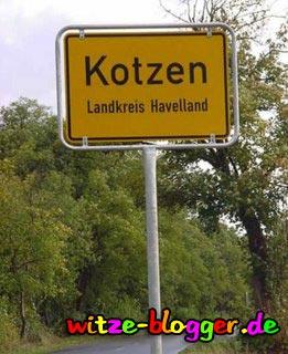 Lustige Ortsnamen Kotzen
