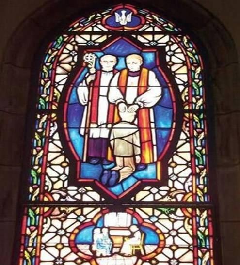Lustiges Kirchenfenster