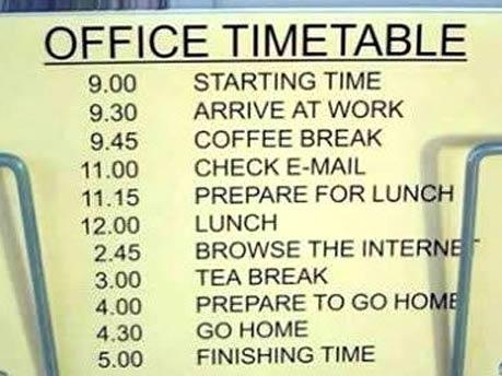 Zeitplan für Beamte