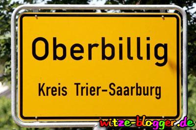 Lustige Ortsnamen Oberbillig