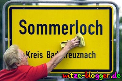 Lustige Ortsnamen Sommerloch