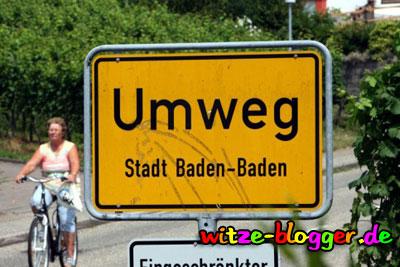 Lustige Ortsnamen Umweg