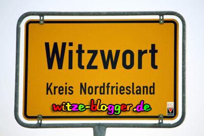 Lustige Ortsnamen Witzwort