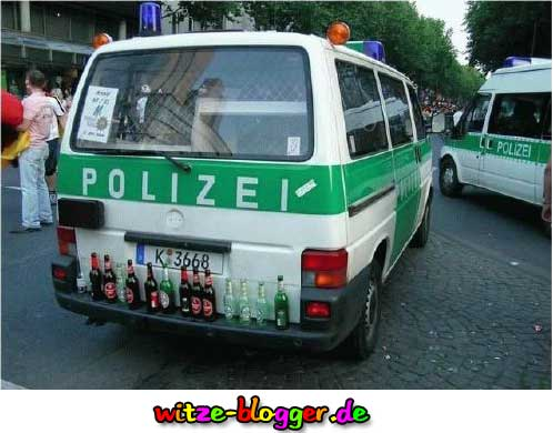 Polizei Saufen im Dienst typisch