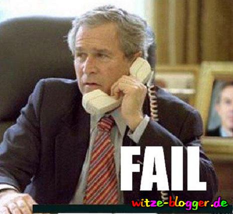 Bush am Telefon