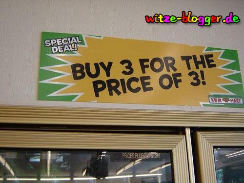 3 zum Preis von 3