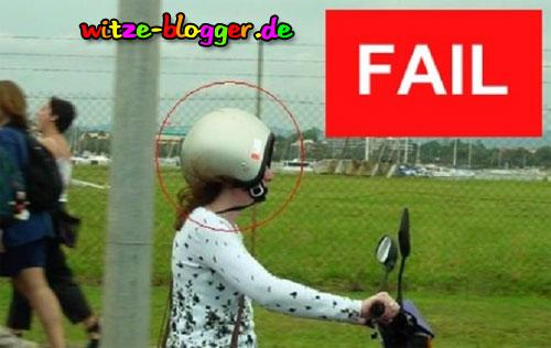 Helm falsch herum