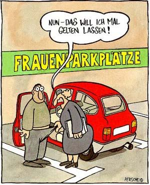 Frauenparkplatz - Cartoon