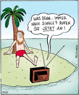 Immer noch Single? - Cartoon