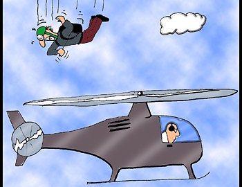 Fallschirmspringen ist gefährlich