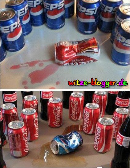Duell Coca Cola Pepsi