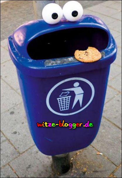 Mülleimer Zunge