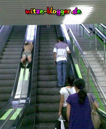 Spaß mit der Rolltreppe