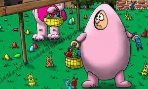 Ostern Ei Hase verdreht
